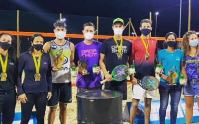 Copa Alive de Beach Tennis no Aretê tem brasileiros e uma italiana como vencedores